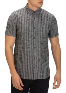 Hurley Men's Tailored-Fit Stamps 2.0 Print Short Sleeve Shirt