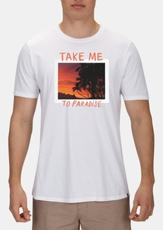 Hurley Men's Take Me To Paradise Graphic T-Shirt