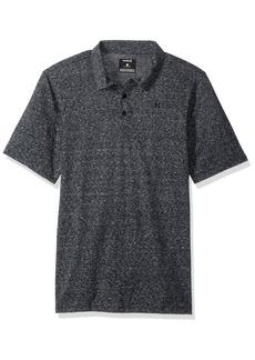 Hurley Men's Textured Three Button Short Sleeve Polo  S