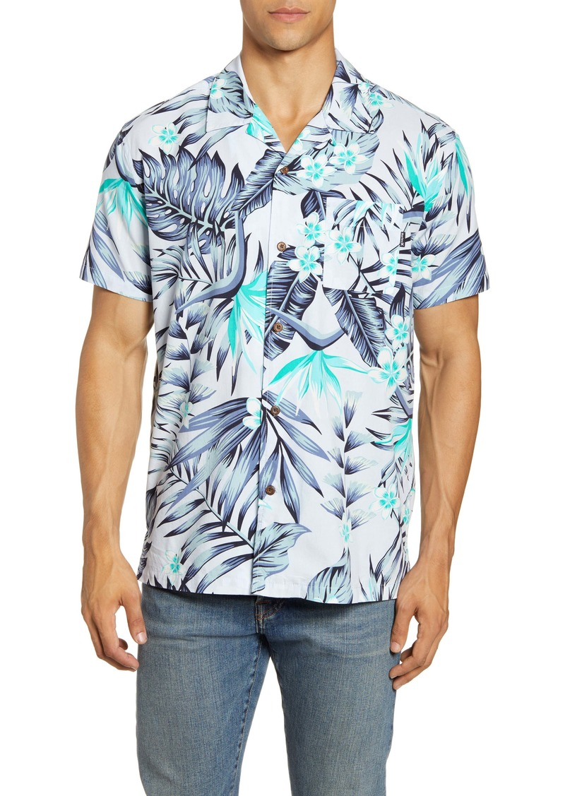 Hurley Party Wave Short Sleeve Button-Up Camp Shirt
