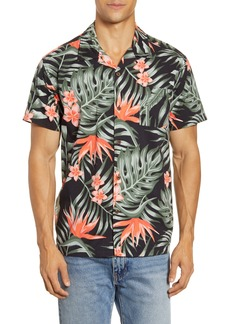 Hurley Party Wave Tropical Short Sleeve Button-Up Camp Shirt