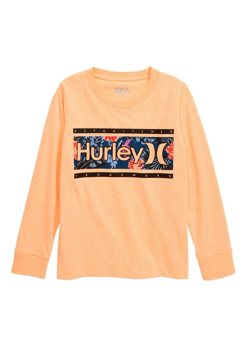 Hurley Print Fill Long Sleeve Graphic T-Shirt (Big Boys)