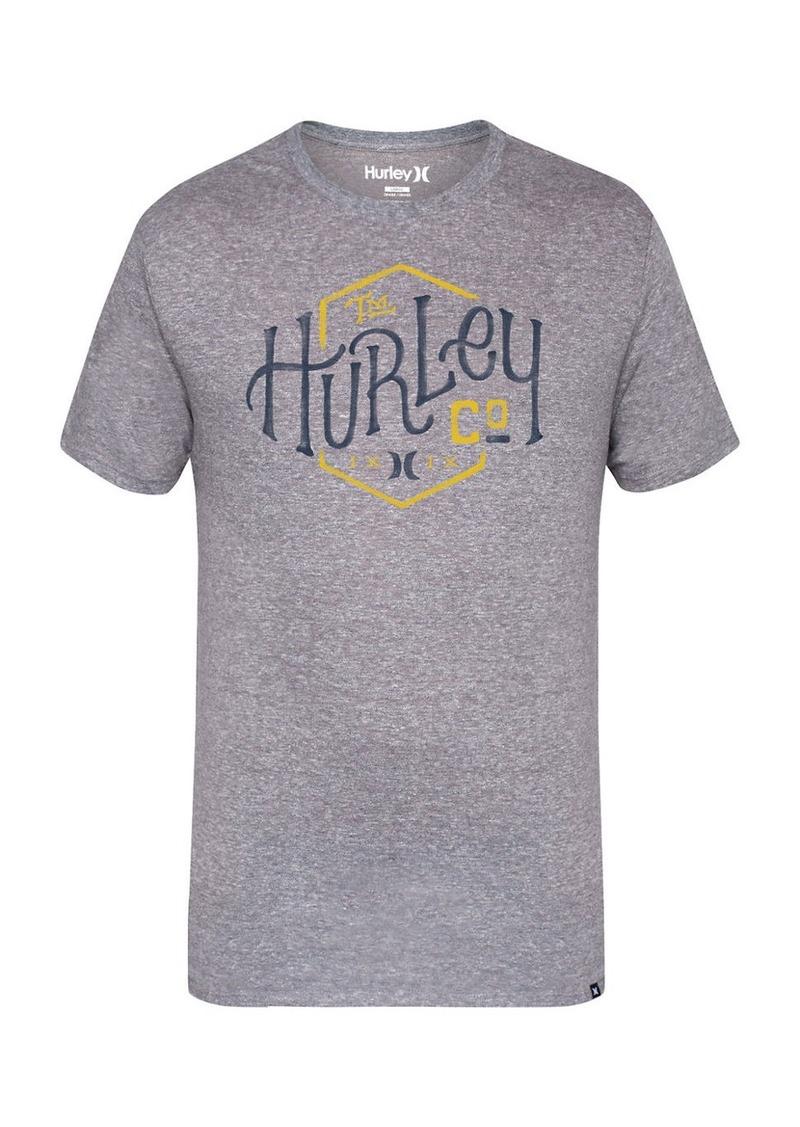 HURLEY Printed Cotton Blend Tee