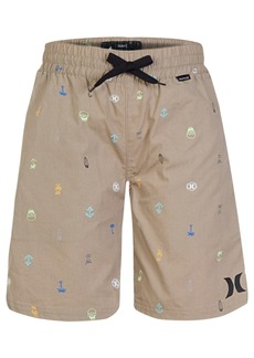 Hurley Printed Cotton Shorts, Little Boys