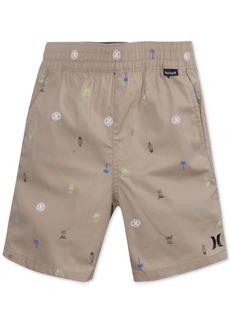 Hurley Printed Cotton Shorts, Toddler Boys