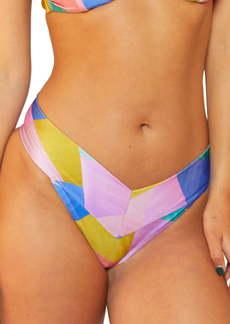 Hurley Rio Geo Print High Leg V-Front Bikini Bottoms