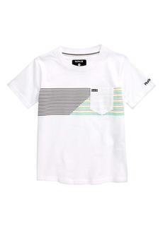 Hurley Slash Stripe Graphic Tee (Toddler & Little Boy)