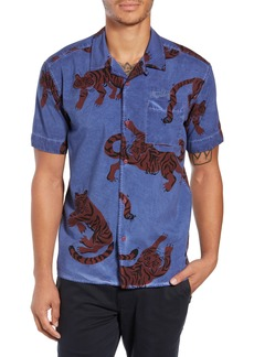 Hurley Tiger Print Camp Shirt