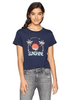Hurley Women's Apparel Sunshine Short Sleeve Tshirt  M