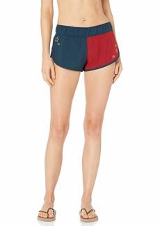 Hurley Women's Apparel Supersuede Stars Beachrider Board Shorts  L