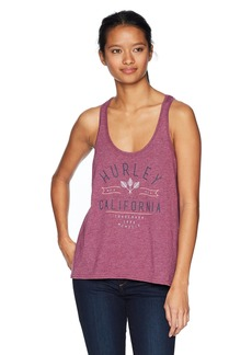 Hurley Women's Apparel Women's California Vibes Racerback Tank Top