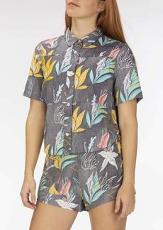 Hurley Women's Apparel Women's Domino Floral Shirt  M