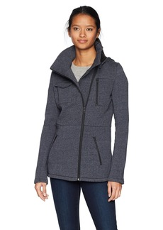 Hurley Women's Apparel Women's Double-Breasted Hooded Fleece Jacket  Extra Small