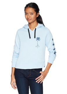 Hurley Women's Apparel Women's Fleece Palm Tree Print Hoodie  Extra Large