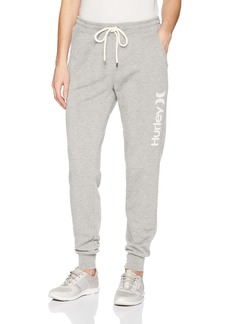 Hurley Women's Apparel Women's ightweight Soft Fleece Track Pant  arge