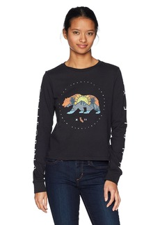 Hurley Women's Apparel Women's Long-Sleeve California Bear Crop Shirt  Extra Large