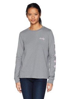 Hurley Women's Apparel Women's Long-Sleeve Floral T-Shirt  Extra Large