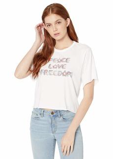 Hurley Women's Apparel Women's Love Freedom Short-Sleeve Crop Tee  S