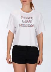 Hurley Women's Apparel Women's Love Freedom Short-Sleeve Crop Tee  XS