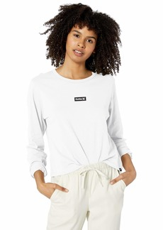 Hurley Women's Apparel Women's One & Only Box Perfect Long-Sleeve  XS