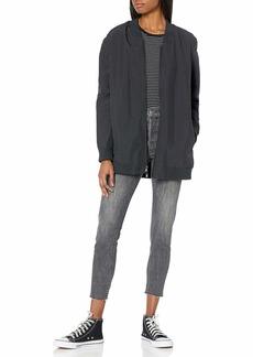 Hurley Women's Apparel Women's Reversible Bomber Tunic Jacket  XL