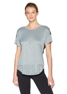 Hurley Women's Apparel Women's Reversible Quick Dry Mesh Tee Shirt  M/L