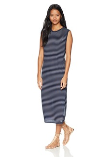 Hurley Women's Sleeveless Striped Casual Beach Dri-Fit Dress