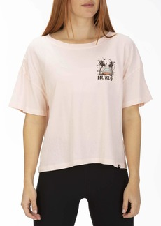 Hurley Women's Apparel Women's Sun Stripes Flouncy Tshirt  M