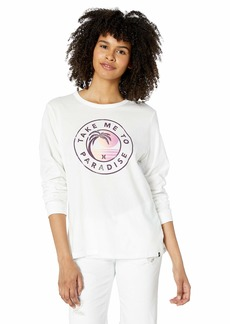 Hurley Women's Apparel Women's Take Me to Paradise Long-Sleeve  XS