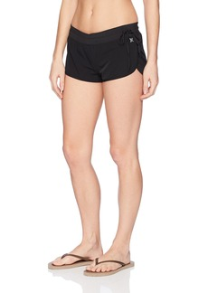 "Hurley Women's Apparel Women's Water-Repellent 1.5"" Performance Stretch Board Shorts  edium"
