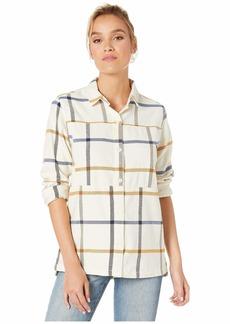 Hurley Women's Apparel Women's Wilson Plaid Flannel Button Down Shirt  XL