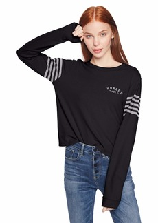 Hurley Women's Graphic Long Sleeve Waffle Thermal T Shirt  S