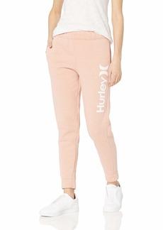 Hurley Women's One & Only Fleece Jogger Sweatpants Terra Blush HTR XL