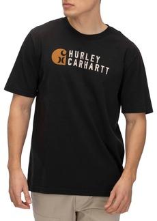 Hurley X Carhartt Men's Stacked Logo Graphic T-Shirt