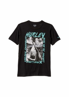 Hurley Inverted Logo Graphic Short Sleeve T-Shirt (Big Kids)