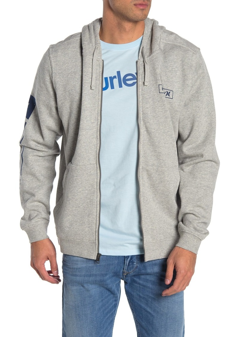 Hurley Logo Knit Drawstring Hood Zip Jacket