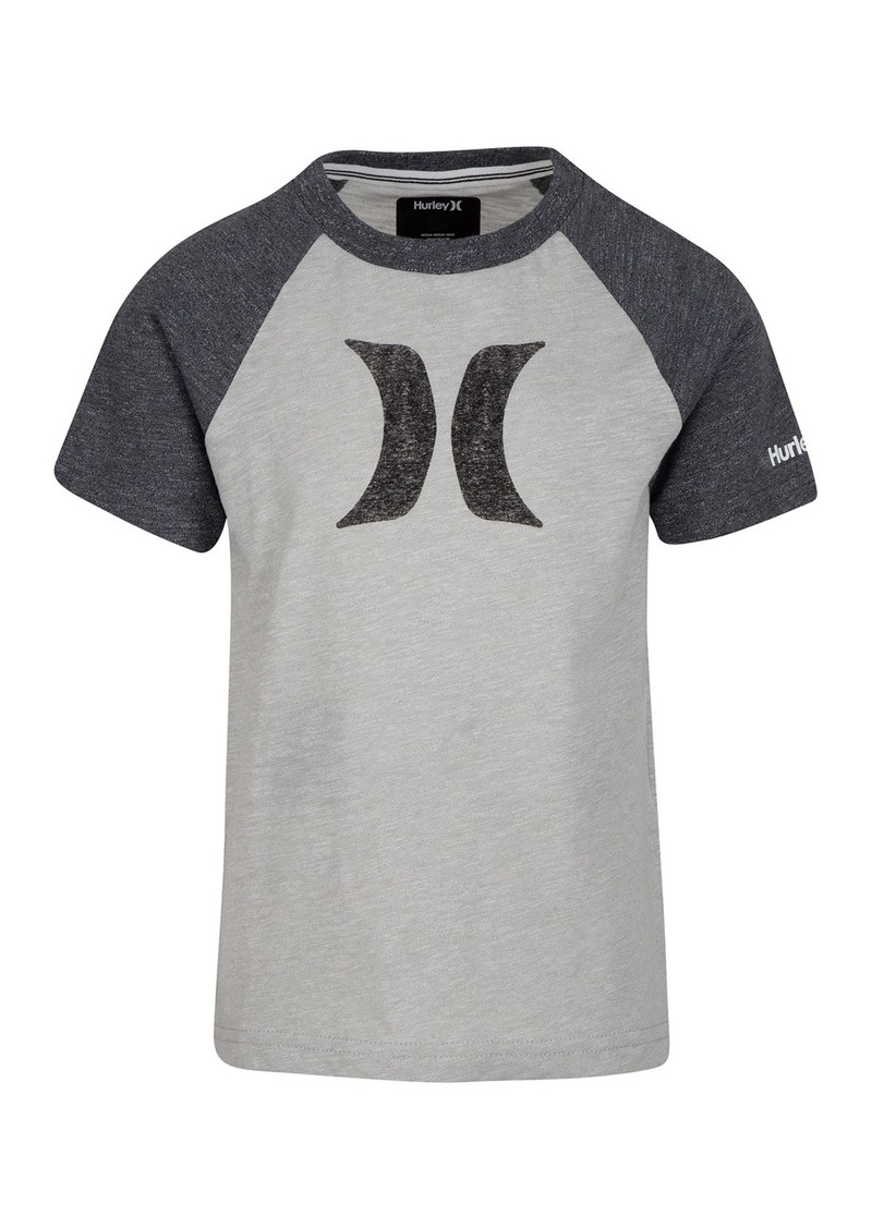 Hurley Marled Knit Icon Logo Graphic T-Shirt (Little Boys)