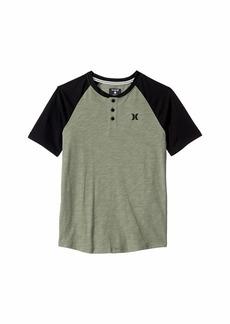 Hurley Marled Raglan Short Sleeve T-Shirt (Big Kids)