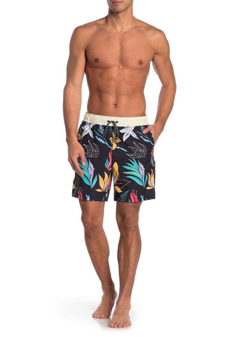 Hurley Printed Lace-Up Swim Shorts