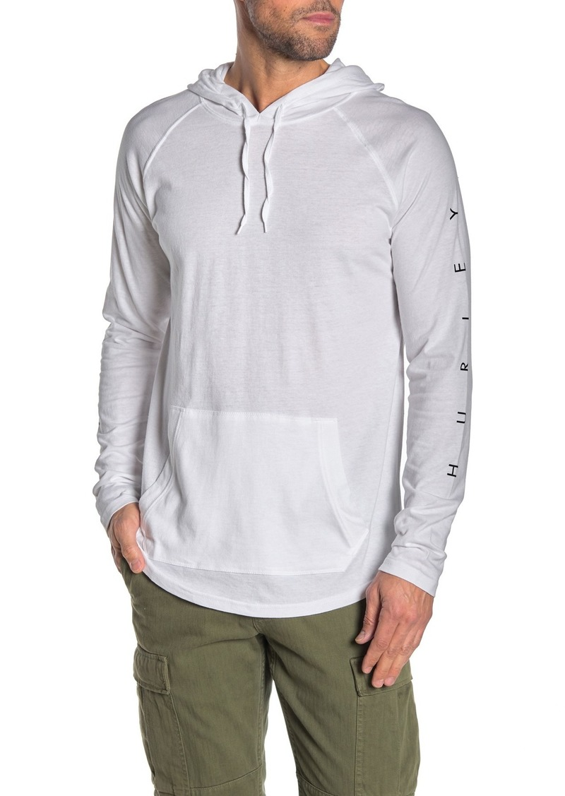 Hurley Sleeve Graphic Drawstring Hoodie