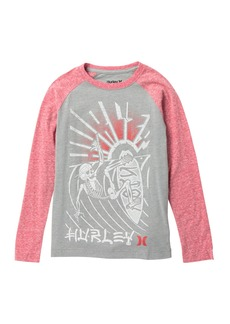 Hurley Split Decision Raglan Tee (Big Boys)