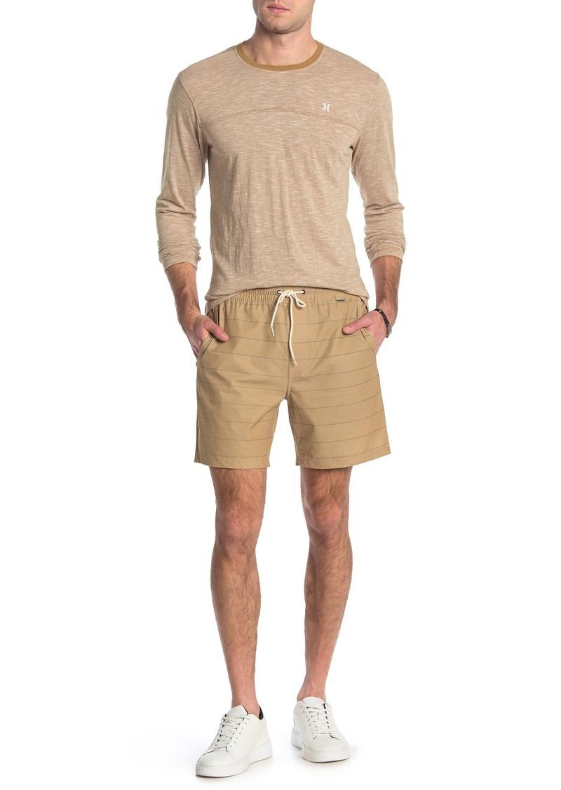 Hurley Stripe Drawstring Swim Shorts