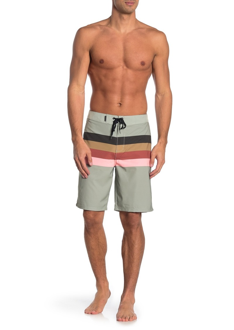 Hurley Stripe Lace-Up Swim Shorts