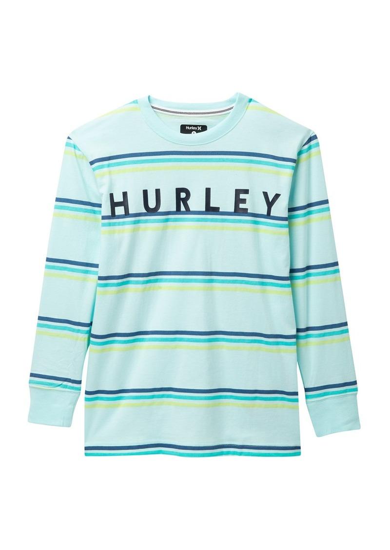 Hurley Tripe Stripe Long Sleeve Knit T-Shirt (Big Boys)