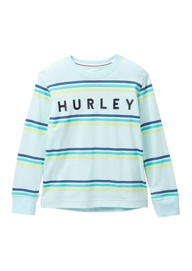 Hurley Triple Stripe Long Sleeve Tee (Little Boys)