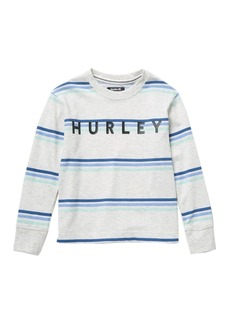 Hurley Triple Stripe Long Sleeve Tee (Little Boys)