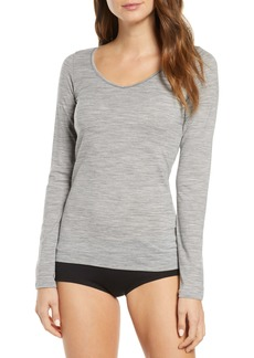 Icebreaker Siren Sweetheart V-Neck Long Sleeve Wool Blend Tee