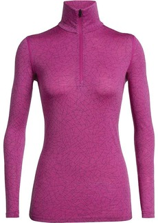 Icebreaker Women's 200 Oasis LS Half Zip Sky Paths Top