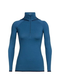 Icebreaker Women's Fluid Zone LS Half Zip Hood Top