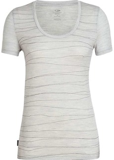 Icebreaker Women's Tech Lite SS Scoop Top Line Lancewood Shirt